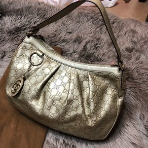 Used Gucci bag light gold